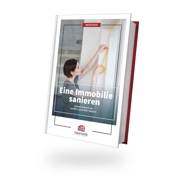 MaklerBerlin - Immobilienmakler in Berlin und Brandenburg - ratgeber book cover immobilie sanieren